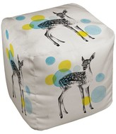 "Thumbprintz Multi-Colored Deer Print Pouf (18""X18""X18"")"