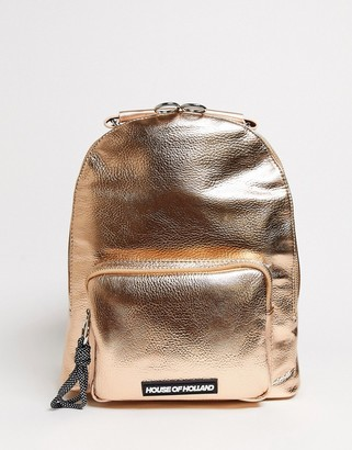 House of Holland Backpack In Rose Gold
