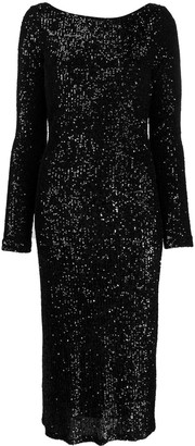 In The Mood For Love Sandy sequin-embellished midi dress