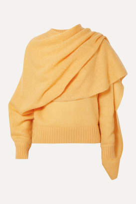 REJINA PYO Colette Draped Mohair-blend Sweater - Yellow