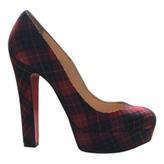 Christian Louboutin Red Cloth Heels