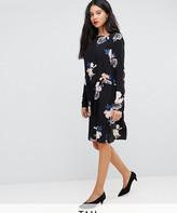 Y.A.S Tall bloom printed mini shift dress