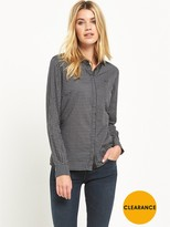 Lee Slim Check Shirt - Black