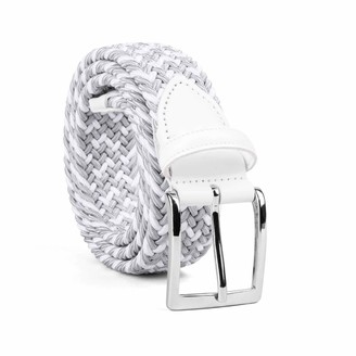 Dalgado Braided Viscose Belt Grey/White Marcello