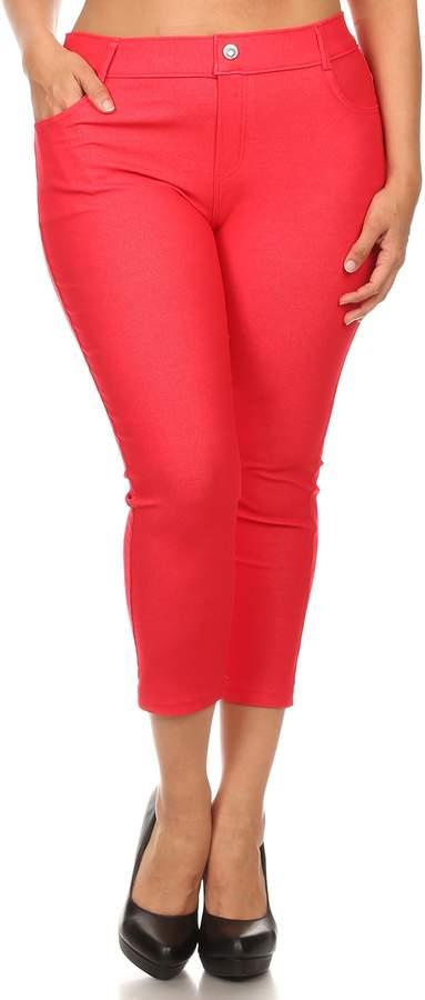 ICONOFLASH Women's Solid Color Capri Jegging