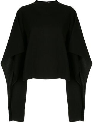 AKIRA NAKA draped design jumper