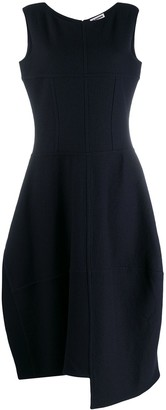 Jil Sander Asymmetric Midi Dress