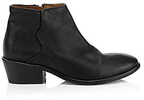 Frye Women's Carson Logo Leather Ankle Boots