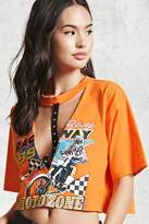 Forever 21 Motorcycle Racing Graphic Top
