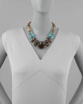 Stephen Dweck Turquoise & Smoky Quartz Necklace
