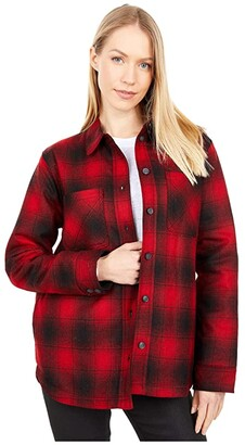 Pendleton Wool Shirt Jacket (Red/Black) Women's Clothing