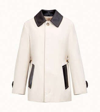 Tod's Trench Coat with Leather Inserts