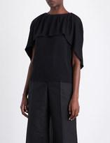 Antonio Berardi Cape-panel crepe shirt
