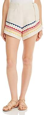 Carolina K. Embroidered Sandy Shorts