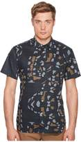 Billy Reid Short Sleeve Tuscumbia Print Shirt Men's Clothing