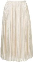 ESTNATION high-waisted pleated skirt
