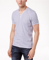 INC International Concepts Men's Feeder Striped Y-Neck T-Shirt, Only at Macy's