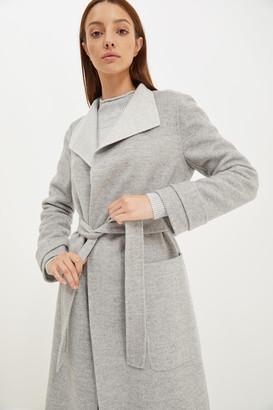 Kayla Wool Long Drape Coat