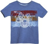 City Threads Skull Drums Graphic Tee (Toddler/Kid) - Smurf-7