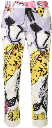 Stella McCartney Horse Print Cropped Jeans