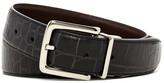 Cole Haan Genuine Leather Reversible Croc to Veg Belt