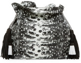 Cynthia Vincent Desiree Leather Tassel Bucket Bag