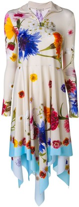 Natasha Zinko Floral Print Asymmetric Dress