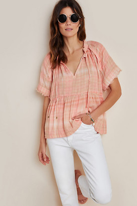 Pilcro And The Letterpress The Bette Babydoll Blouse By in Purple Size S