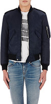 Saint Laurent Men's Tech-Twill Bomber Jacket-NAVY