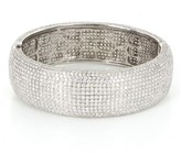 18K White Gold 22.95 ct. Pave Diamond Bangle Bracelet