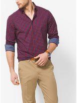 Michael Kors Tailored-Fit Check Cotton Shirt