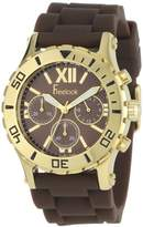 Freelook Men's HA9034CHG-2 Brown Silicon Band Multi-Function Watch
