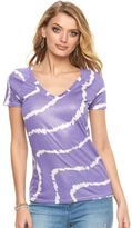 Juicy Couture Women's Shimmer V-Neck Tee