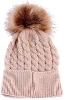 Tenworld Cute Newborn Baby Cap Kid's Pom Pom Knitted Hats