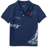 Ralph Lauren Boy Cotton Mesh Graphic Polo Shirt