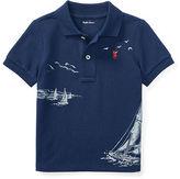 Ralph Lauren Boy Cotton Mesh Graphic Polo Shirt