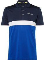 RLX Ralph Lauren Slim-Fit Colour-Block Stretch-Piqué Golf Polo Shirt
