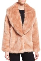 Opening Ceremony Faux-Fur Mixed-Media Cardigan, Desert