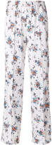 MSGM floral print wide leg trousers