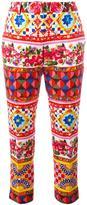 Dolce & Gabbana Mambo print trousers - women - Cotton/Spandex/Elastane - 44