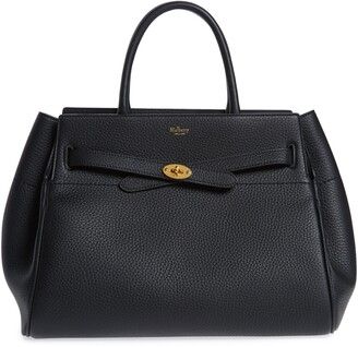Mulberry Belted Bayswater Grained Leather Satchel