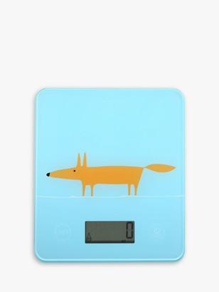 Scion Mr Fox Electronic Kitchen Scale, Light Blue
