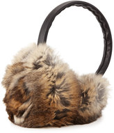 Adrienne Landau Rosette Fur Earmuffs, Natural Brown