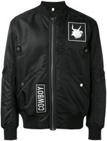 Helmut Lang patched bomber jacket