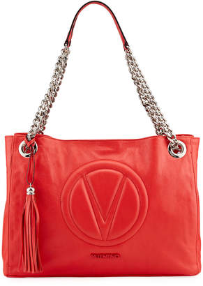 Mario Valentino Valentino By Verra Sauvage Quilted Logo Tote Bag