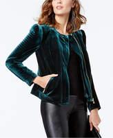 INC International Concepts Velvet Moto Jacket, Created for Macy's