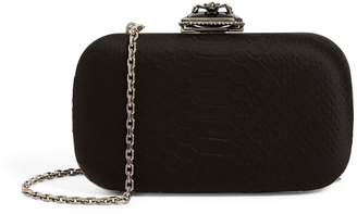 Alexander McQueen Satin Spider Buckle Clutch Bag