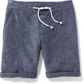 Old Navy Linen-Blend Midi Shorts for Girls
