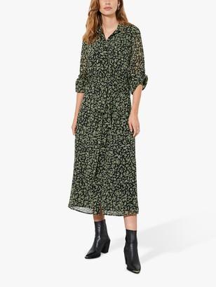 Mint Velvet Brooke Floral Midi Dress, Multi
