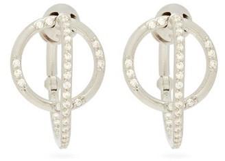 Alan Crocetti - Dita Crystal & Sterling Silver Hoop Earrings - Womens - Silver